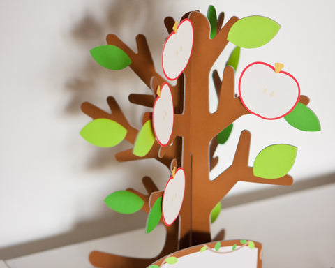3D Message Card Apple Tree