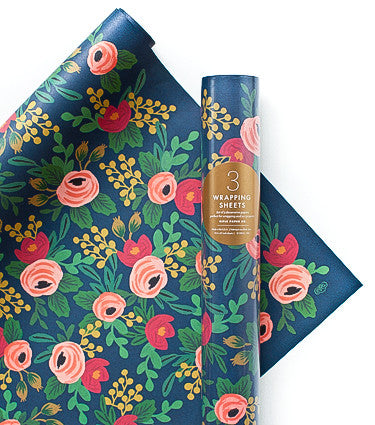 Rosa Wrapping Sheets (Roll of 3)