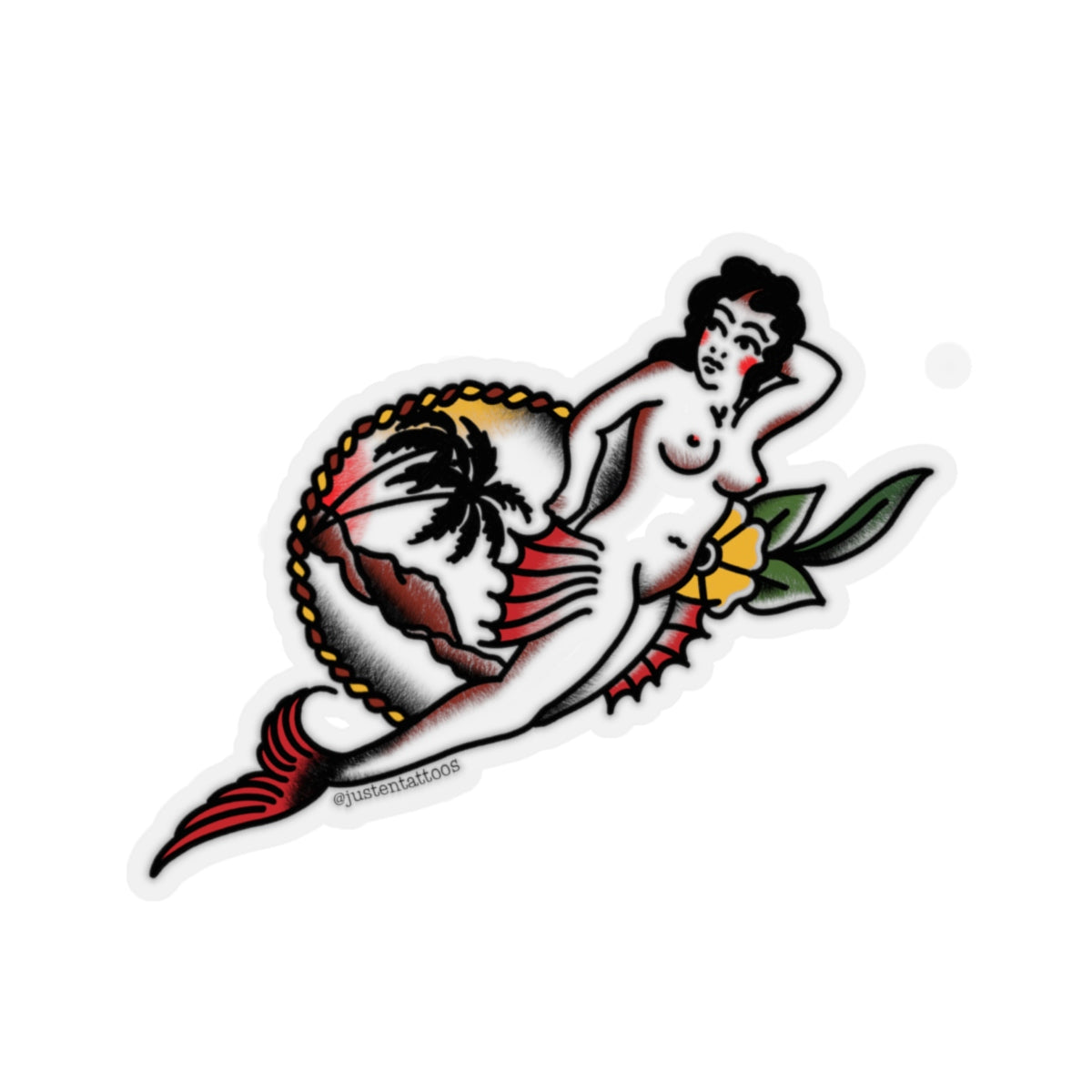 Mermaid Woman SJ Kiss-Cut Stickers