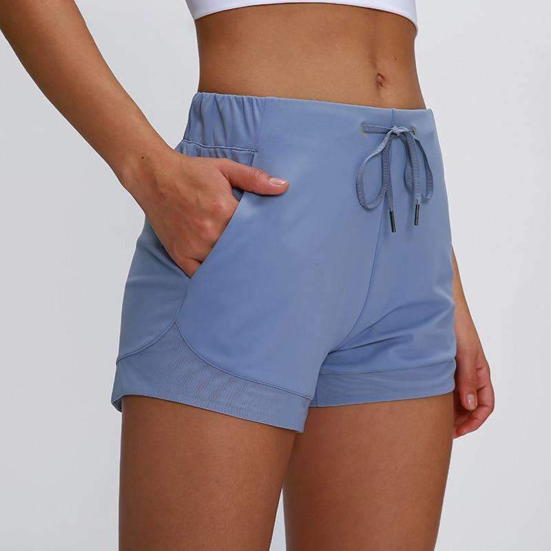 MEND Drawstring Slim Fit Running Short - Ice Blue