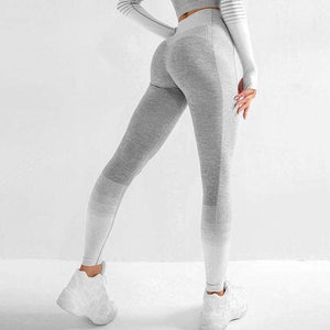 MEND ENERGY Full Length Legging - Gray/White