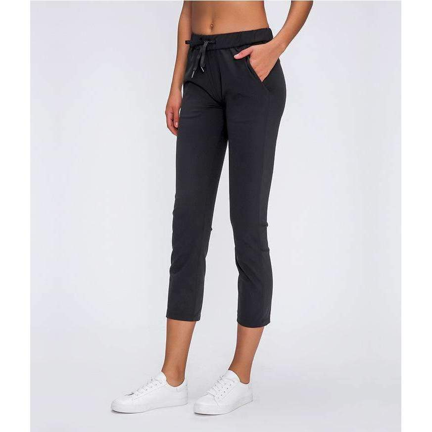 Mend PREMIUM Cropped 3/4 Sports Jogger - Black