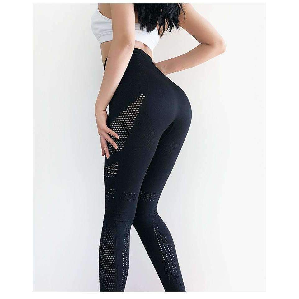 MEND Seamless Mesh Legging - Black