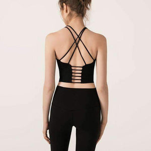 Mend Seamless Sculpt Sports Crop - Black