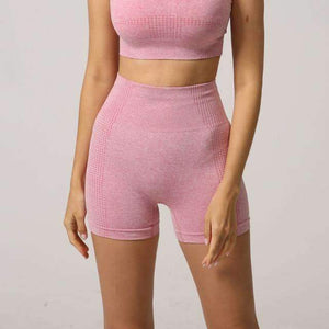MEND Seamless Velocity Mid-Length Short - Pink