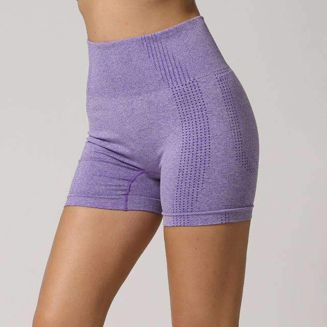 MEND Seamless Velocity Mid-Length Short - Purple