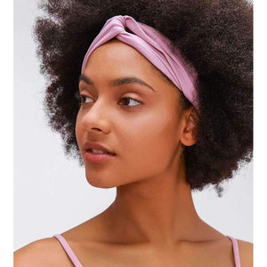 Mend TWIST Workout Yoga Hair Band - Quicksand Powder