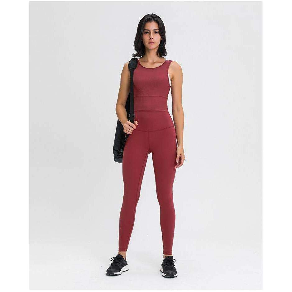 MEND Ultralux Super High Rise Sport Legging - Deep Crimson