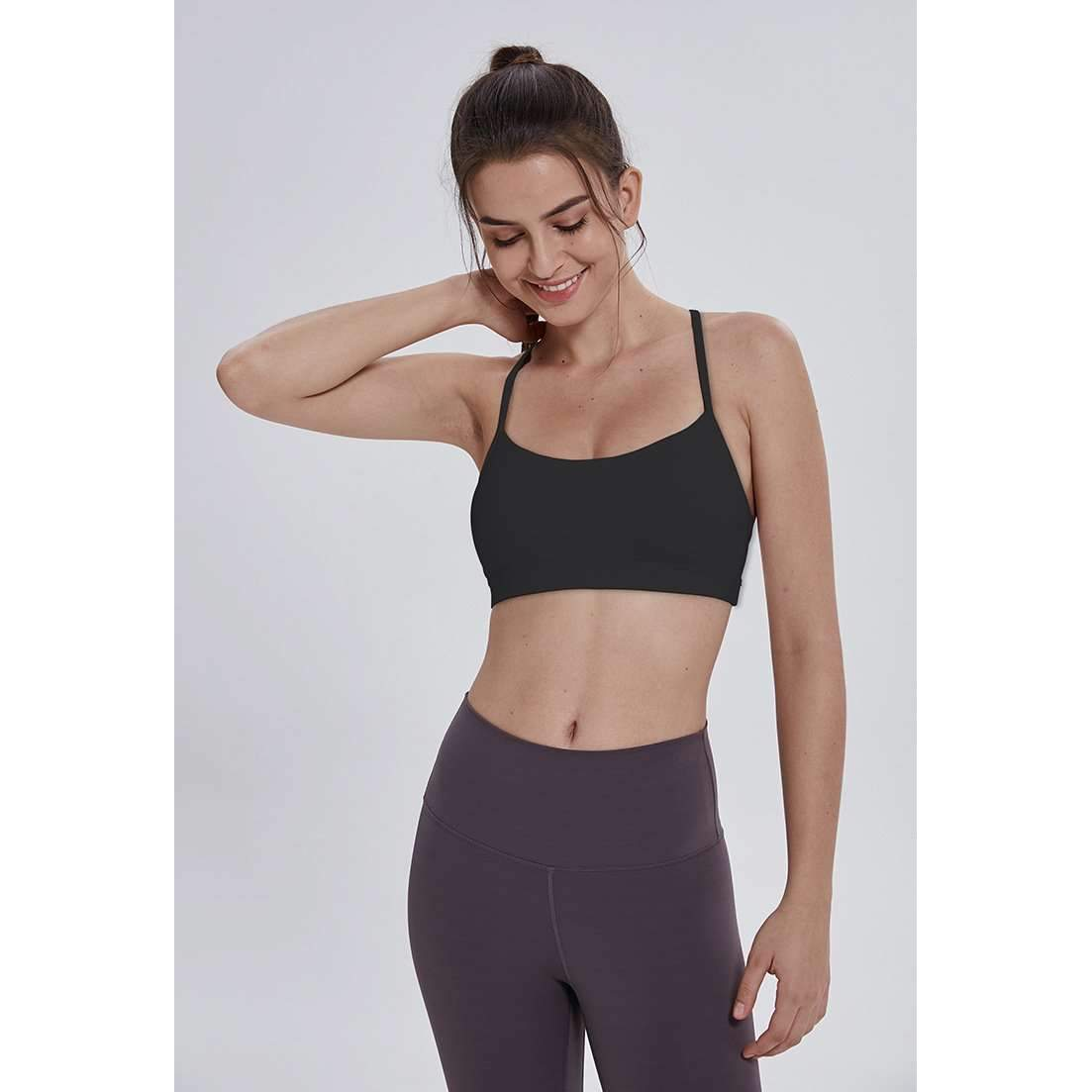 MEND Y-Strap Sports Bra - Black
