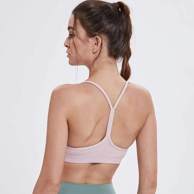 MEND Y-Strap Sports Bra - Ceramic