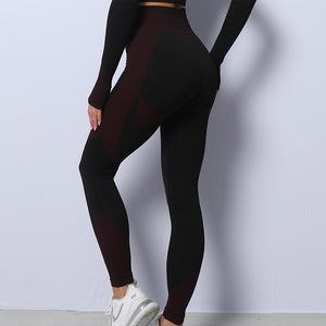 Mend MOMENTUM Full Length Legging - Black/Red