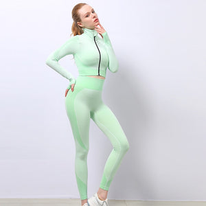 Mend MOMENTUM Full Length Legging - Light Green