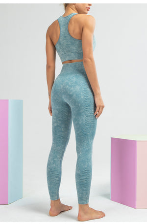 MEND Seamless RETRO Sports Bra - Light Blue