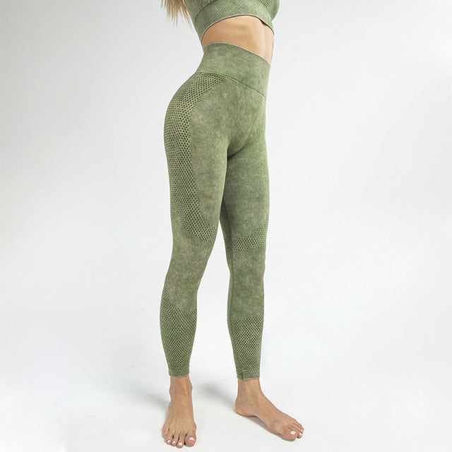 MEND Seamless RETRO Sports Legging - Army Green