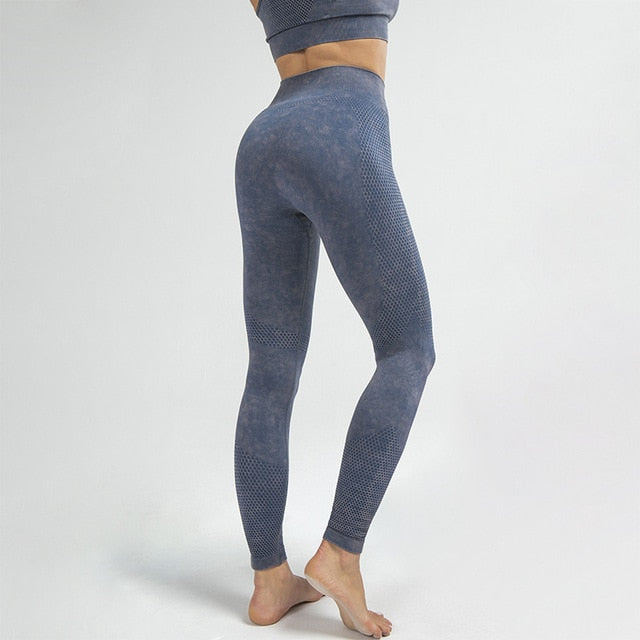 MEND Seamless RETRO Sports Legging - Dark Blue