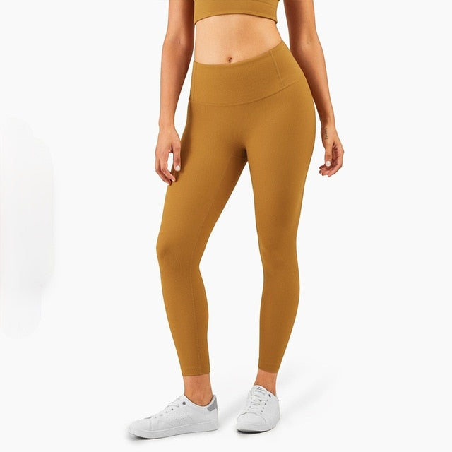 Mend RIBBED Naked Feel Sports Legging - Spiced Bronze