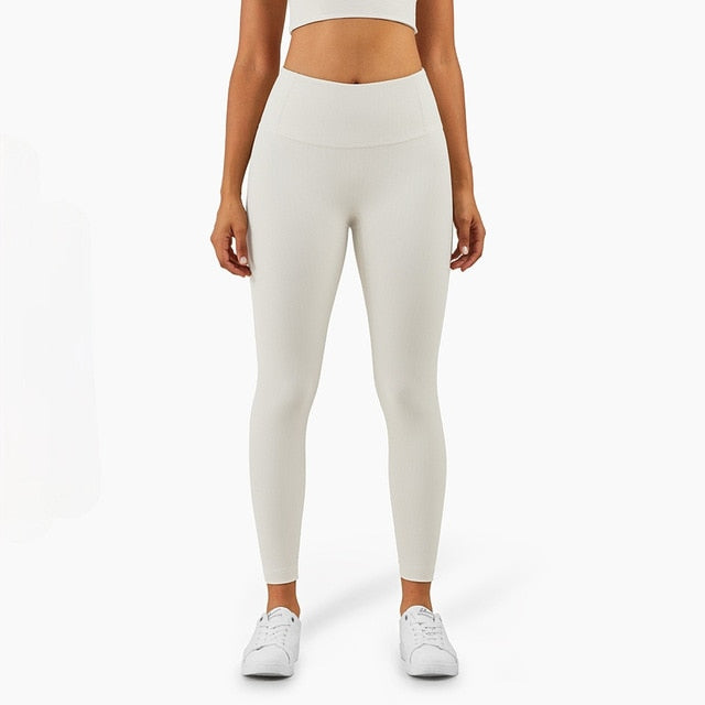 Mend RIBBED Naked Feel Sports Legging - Light Ivory
