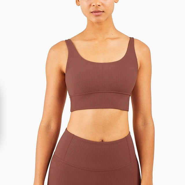 Mend RIBBED Naked Feel Sports Bra - Copper