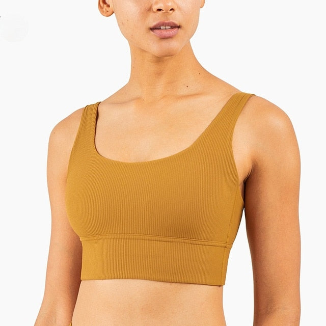 Mend RIBBED Naked Feel Sports Bra - Spiced Bronze