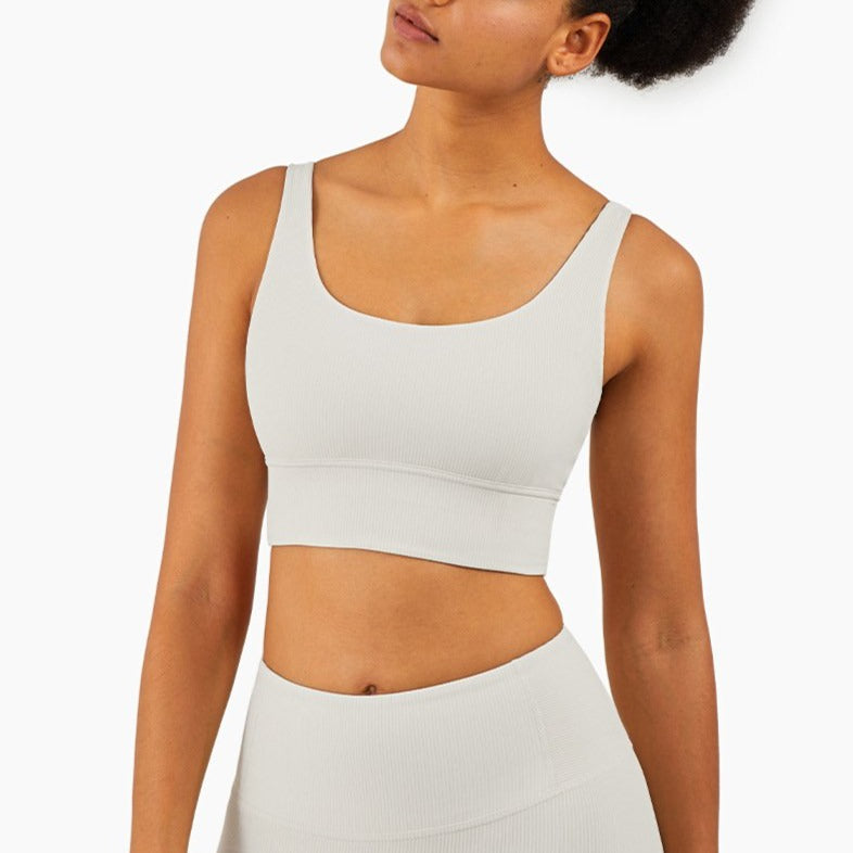 Mend RIBBED Naked Feel Sports Bra - Light Ivory