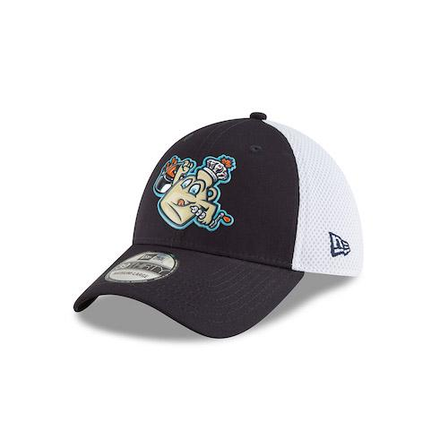 Vermont Lake Monsters Maple Kings New Era 39THIRTY Stretch Fit - Liquid Chrome