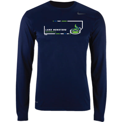 Nike Navy Legend Long Sleeve Performance T-Shirt
