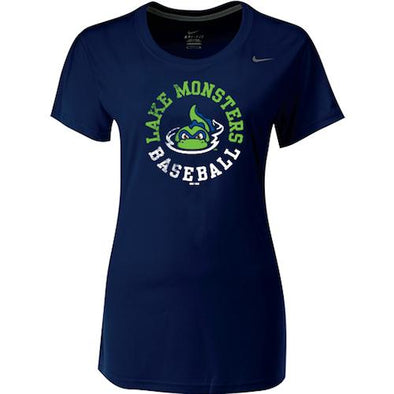 Vermont Lake Monsters Ladies Nike Performance T-Shirt - Navy
