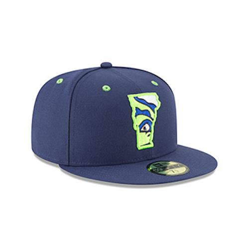 Vermont Lake Monsters Official Alternate - Vermont State Logo Cap