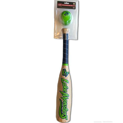 Vermont Lake Monsters Kids Softee Bat and Ball Set
