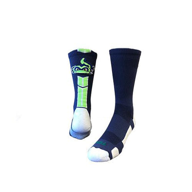 Vermont Lake Monsters Navy Baseline Socks