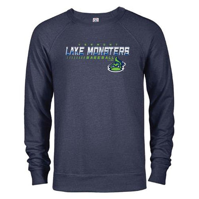 Vermont Lake Monsters Facade- French Terry Crewneck Sweatshirt