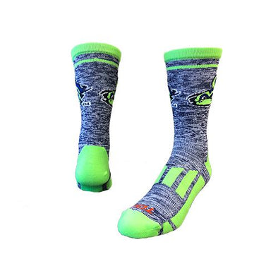 Vermont Lake Monsters Heather Navy Socks
