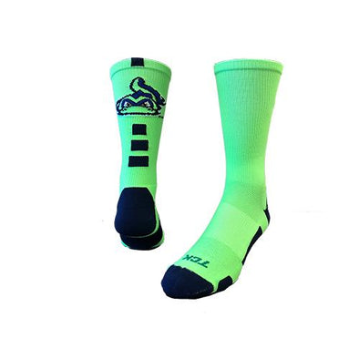 Vermont Lake Monsters Neon Green Socks