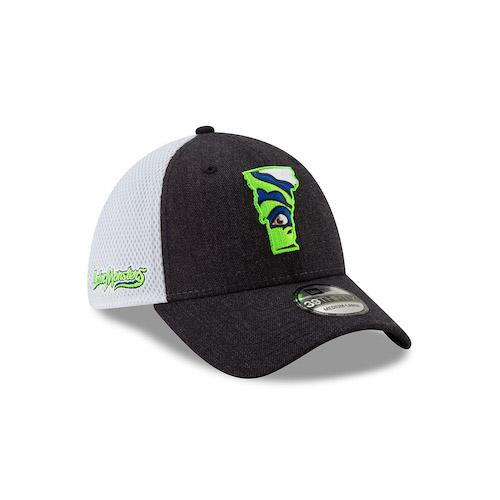 Vermont Lake Monsters VT State Logo Heather Front Neo 39THIRTY - New Era