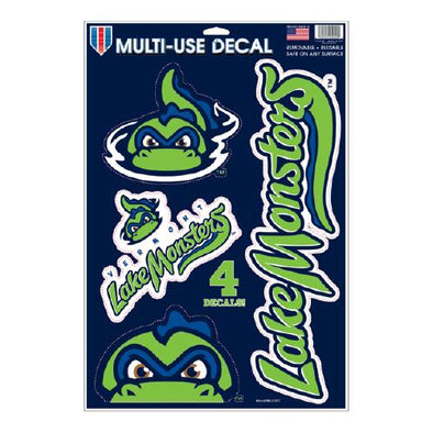 "Vermont Lake Monsters Multi-Use Decal/Four-Sticker Sheet (11""x17"" sheet)"
