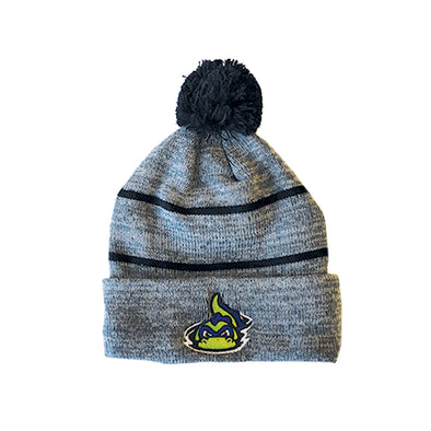 Vermont Lake Monsters Heather Gray & Navy Knit Winter Cap - OC Sports