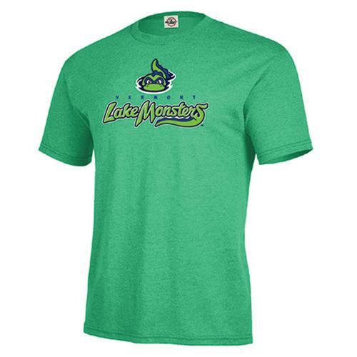 Vermont Lake Monsters Adult Primary Logo T-Shirt - Kelly Heather
