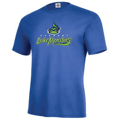 Vermont Lake Monsters Adult Primary Logo T-Shirt - Royal
