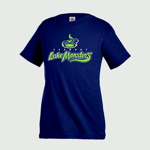Vermont Lake Monsters Adult Primary Logo T-Shirt - Navy