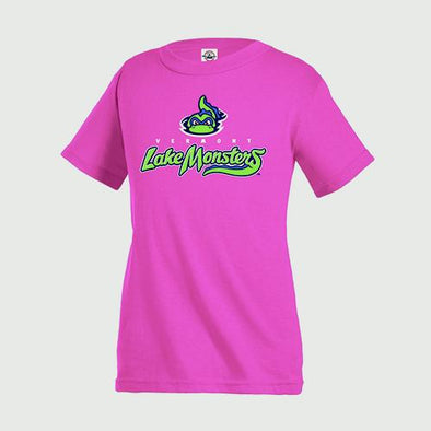 Vermont Lake Monsters Youth Primary Logo T-Shirt - Heliconia
