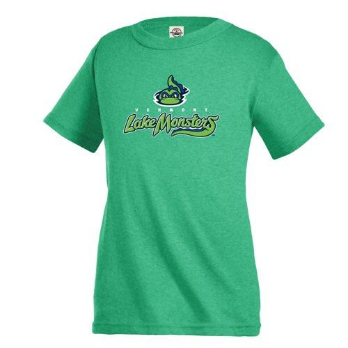 Vermont Lake Monsters Youth Primary Logo T-Shirt - Kelly Heather