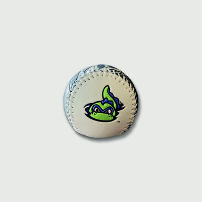 Vermont Lake Monsters White & Silver Metallic Baseball