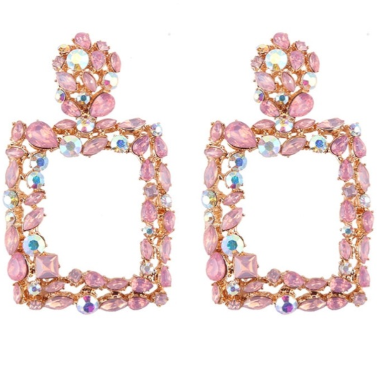 CELINE EARRINGS (PINK)