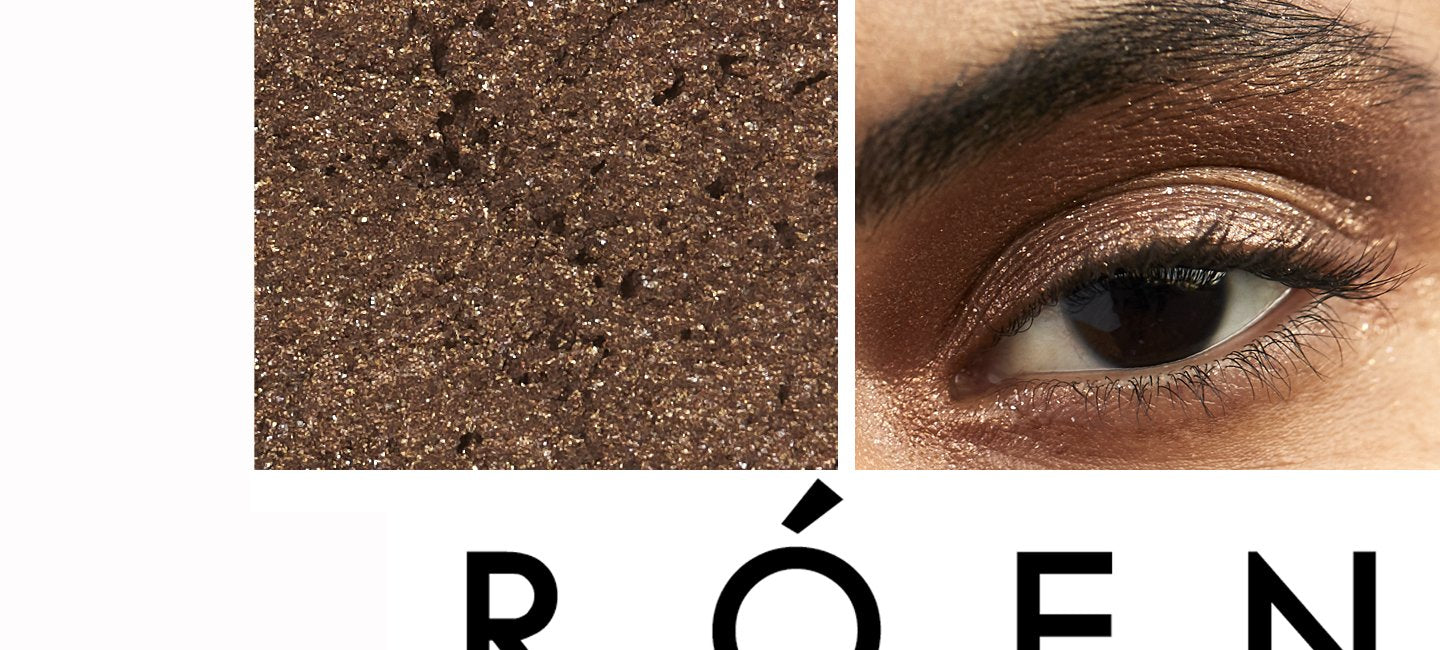 ROEN BEAUTY - Eye Shadow Shades - Always ready for that unexpected FaceTime, this dark brown sparkle will never let you down.