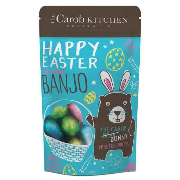Banjo Carob Easter Egg Pouch-Health Foods - Chocolate-The Carob Kichen-140GM-Carob-Thrive Health and Nutrition