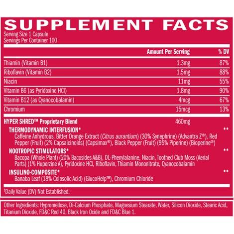 BSN Hypershred-Weight Loss - Fat Burners-BSN-Thrive Health and Nutrition