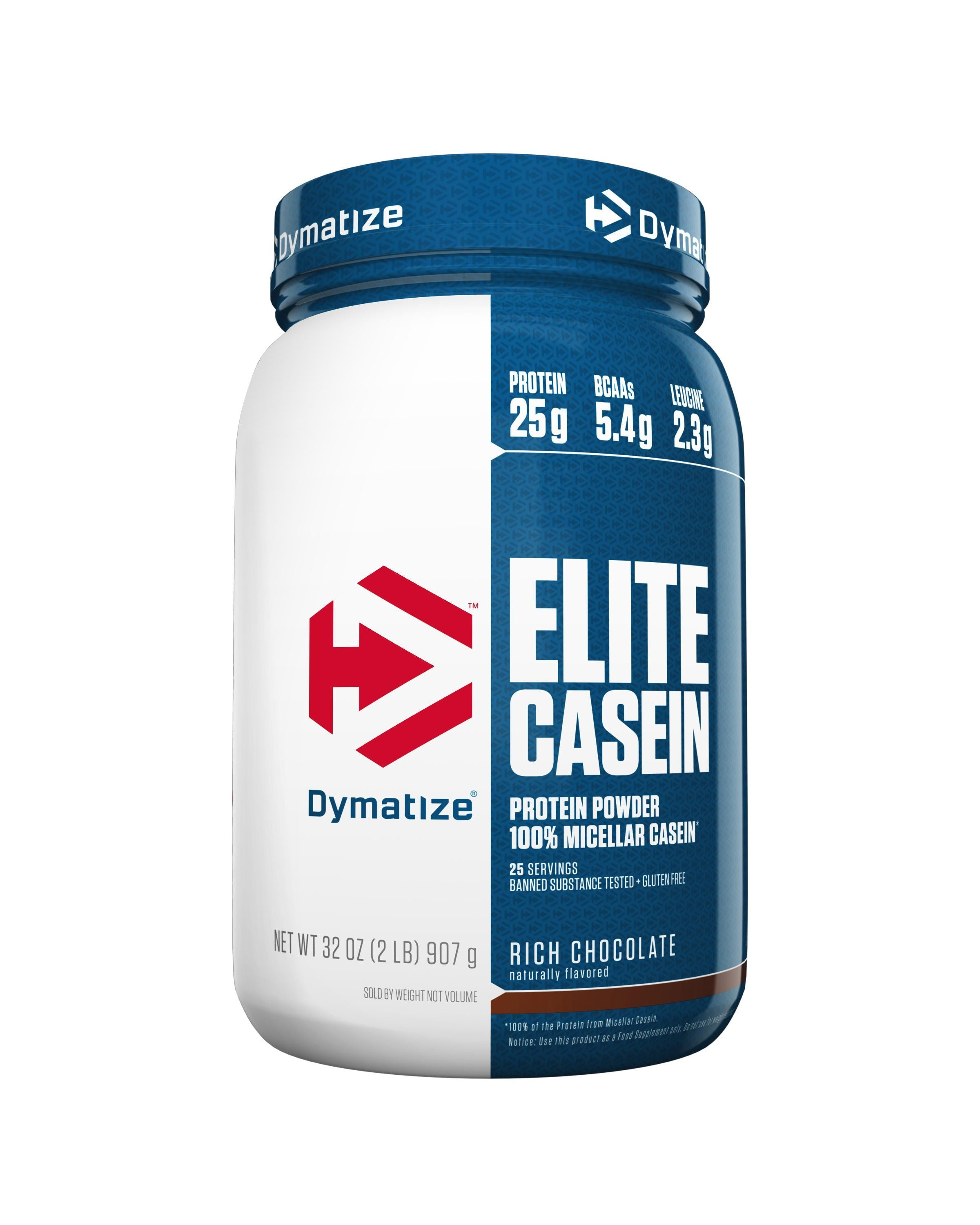 Dymatize Elite Casein-Protein - Casein Protein-DYMATIZE-2LB-RICH CHOCOLATE-Thrive Health and Nutrition