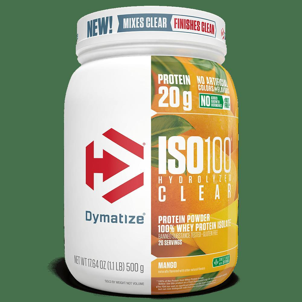 Dymatize ISO100 Hydrolyzed Clear-Protein - Whey Protein Isolate-DYMATIZE-20 Serves-MANGO-Thrive Health and Nutrition