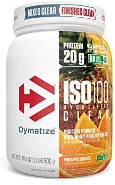 Dymatize ISO100 Hydrolyzed Clear-Protein - Whey Protein Isolate-DYMATIZE-20 Serves-Pineapple Orange-Thrive Health and Nutrition
