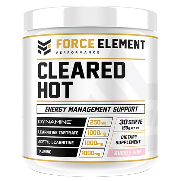 Force Element Cleared Hot-Weight Loss - Fat Burners-Force Element Performance-30 SERVE-Bubblegum-Thrive Health and Nutrition